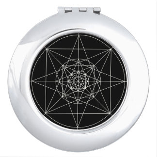 Third Dimensional Sacred Geometry Makeup Mirror