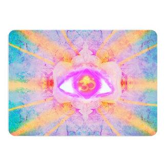 third eye 13 cm x 18 cm invitation card