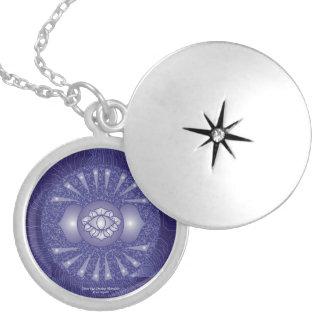Third Eye Chakra Mandala Locket Necklace