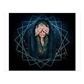 Third Eye Eye Spiritual Intuition Symbol Postcard
