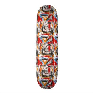 Third Eye-Hand Painted Abstract Art 18.1 Cm Old School Skateboard Deck