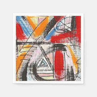 Third Eye-Hand Painted Abstract Art Disposable Serviette