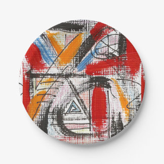 Third Eye-Hand Painted Abstract Art Paper Plate