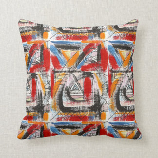 Third Eye-Hand Painted Abstract Art Throw Pillow