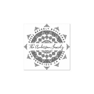 Third Eye Mandala Elegant Script Return Address Rubber Stamp