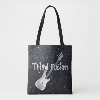 Third Fusion Bass Guitar Black Tote Bag