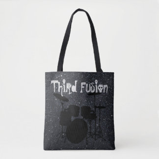 Third Fusion Drums Black/Grey Tote Bag