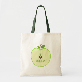 Third Grade Teacher Bag - Green Apple Half