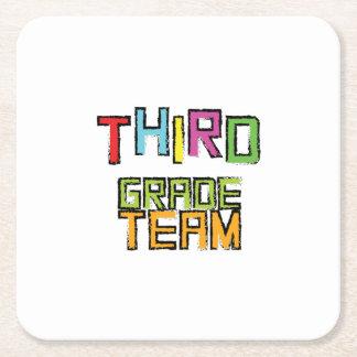Third Grade Team , 3rd Third Grade Teachers Square Paper Coaster