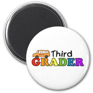 Third Grader 6 Cm Round Magnet