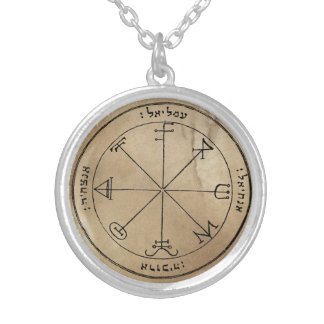 Third Pentacle of Saturn Silver Plated Necklace