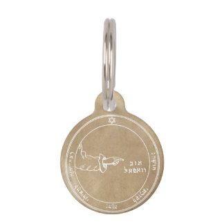Third Pentacle of the Moon Pet ID Tag