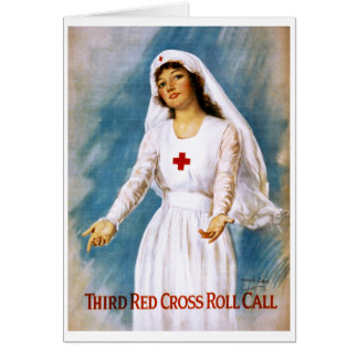 Third Red Cross Roll Call, 1918 Card