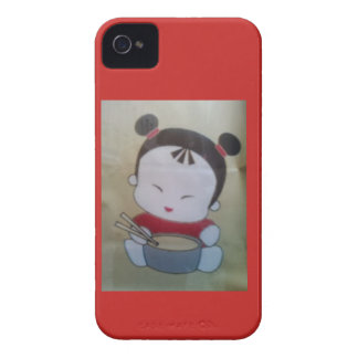 third ring noodle girl Case-Mate iPhone 4 case