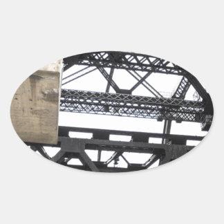Third Street Bridge Vertical Oval Stickers