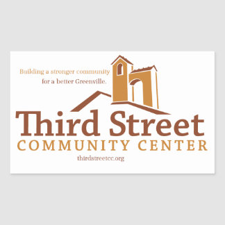 Third Street Community Center Vision Rectangular Sticker
