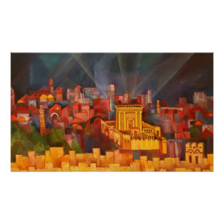 Third Temple of Jerusalem Poster