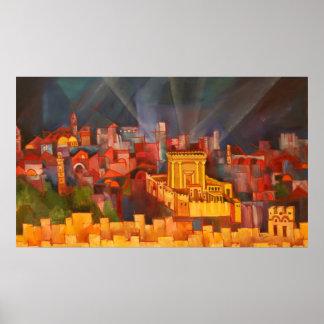 Third Temple of Jerusalem Poster