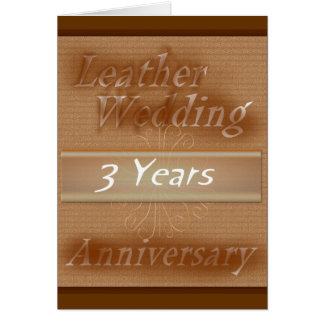 Third Wedding Anniversary ~ Leather Card