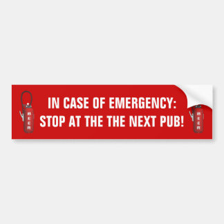 Thirst Quencher Beer Bumper Sticker