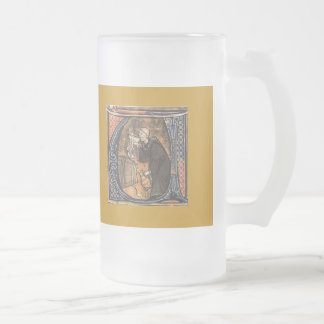 thirsty monk frosted glass mug