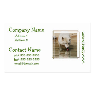 Thirsty Wolf Business Card Templates