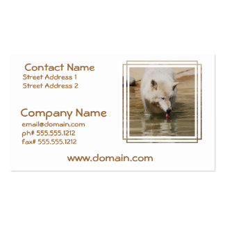 Thirsty Wolf Business Card Template