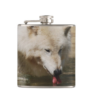 Thirsty Wolf Hip Flask