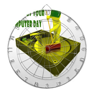 Thirteenth February - Clean Out Your Computer Day Dartboard With Darts