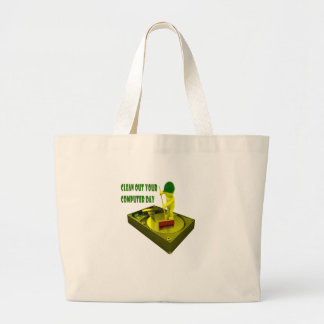Thirteenth February - Clean Out Your Computer Day Large Tote Bag