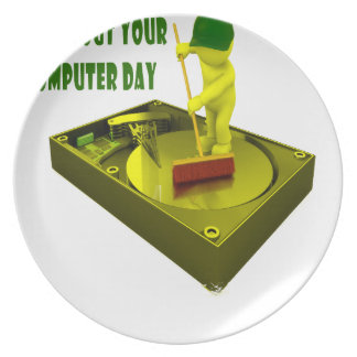 Thirteenth February - Clean Out Your Computer Day Plate