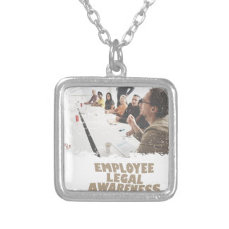 Thirteenth February - Employee Legal Awareness Day Silver Plated Necklace