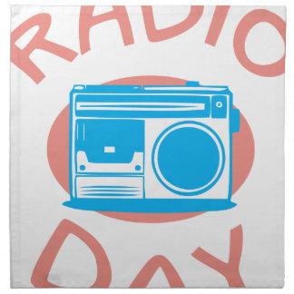 Thirteenth February - Radio Day - Appreciation Day Napkin