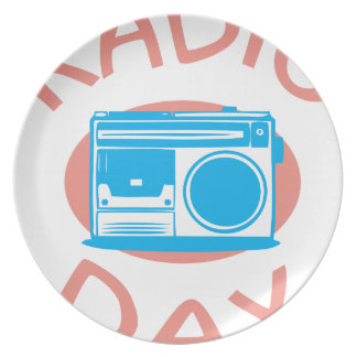 Thirteenth February - Radio Day - Appreciation Day Plate