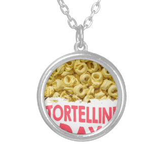 Thirteenth February - Tortellini Day Silver Plated Necklace