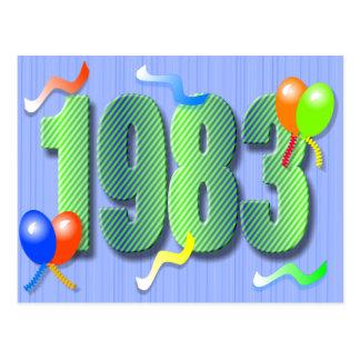 Thirtieth Birthday 1983 Postcard