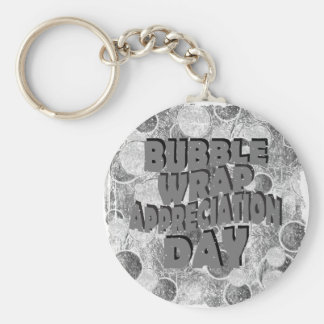 Thirtieth January - Bubble Wrap Appreciation Day Basic Round Button Key Ring