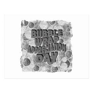 Thirtieth January - Bubble Wrap Appreciation Day Postcard