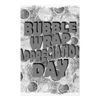 Thirtieth January - Bubble Wrap Appreciation Day Stationery