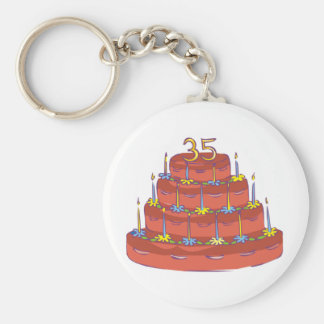Thirty-five Candles 35th Birthday Gifts Keychain