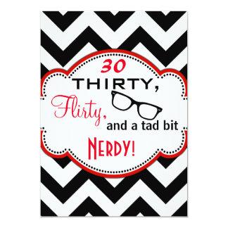 Thirty, Flirty, and Nerdy Birthday Invite