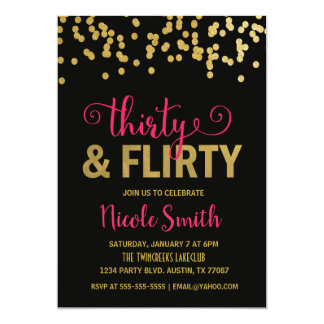Thirty & Flirty Birthday Invitation