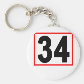 Thirty-Four Women's T-Shirts.png Basic Round Button Key Ring