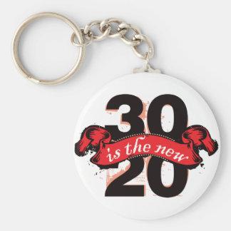 Thirty is the New Twenty - Red Keychain