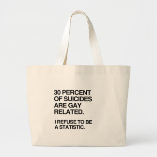 THIRTY PERCENT OF SUICIDES ARE GAY RELATED CANVAS BAG