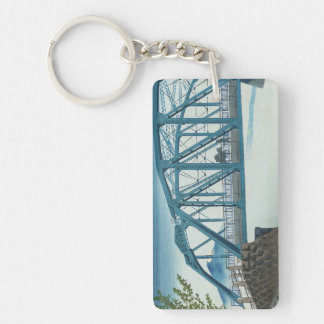 Thirty Six Views of Mt. Fuji, Moonlight at Fujikaw Double-Sided Rectangular Acrylic Key Ring