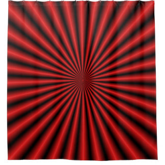 Thirty Two Rays in Red Shower Curtain