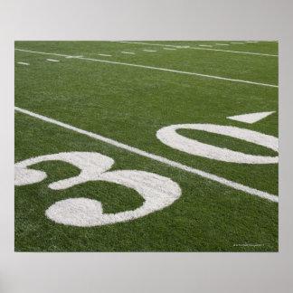 Thirty yard line poster