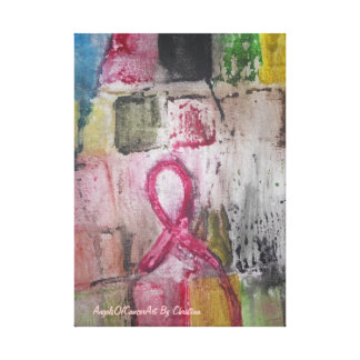 This Art was created for Breast cancer support Stretched Canvas Print