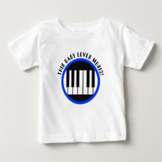 This baby loves music boys t-shirt
